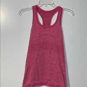 Pink Lululemon Swiftly Tech racerback tank